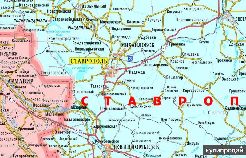 Настенная карта ЮФО
