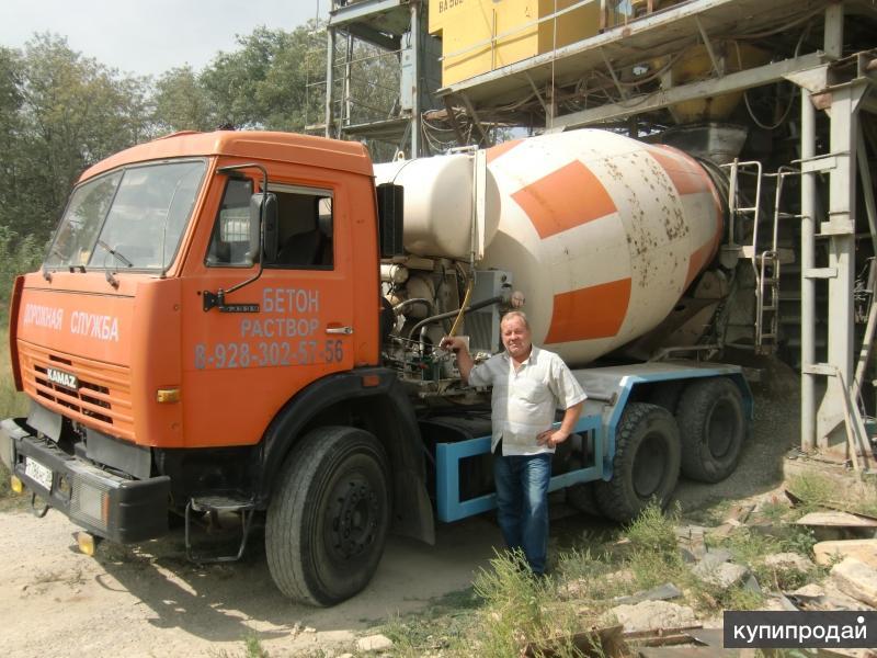 Миксер 8м3 перевезет бетон раствор в любом каличестве