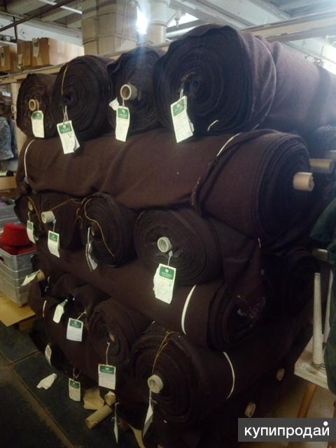 Распродаем складские остатки шерстяной ткани и пряжи