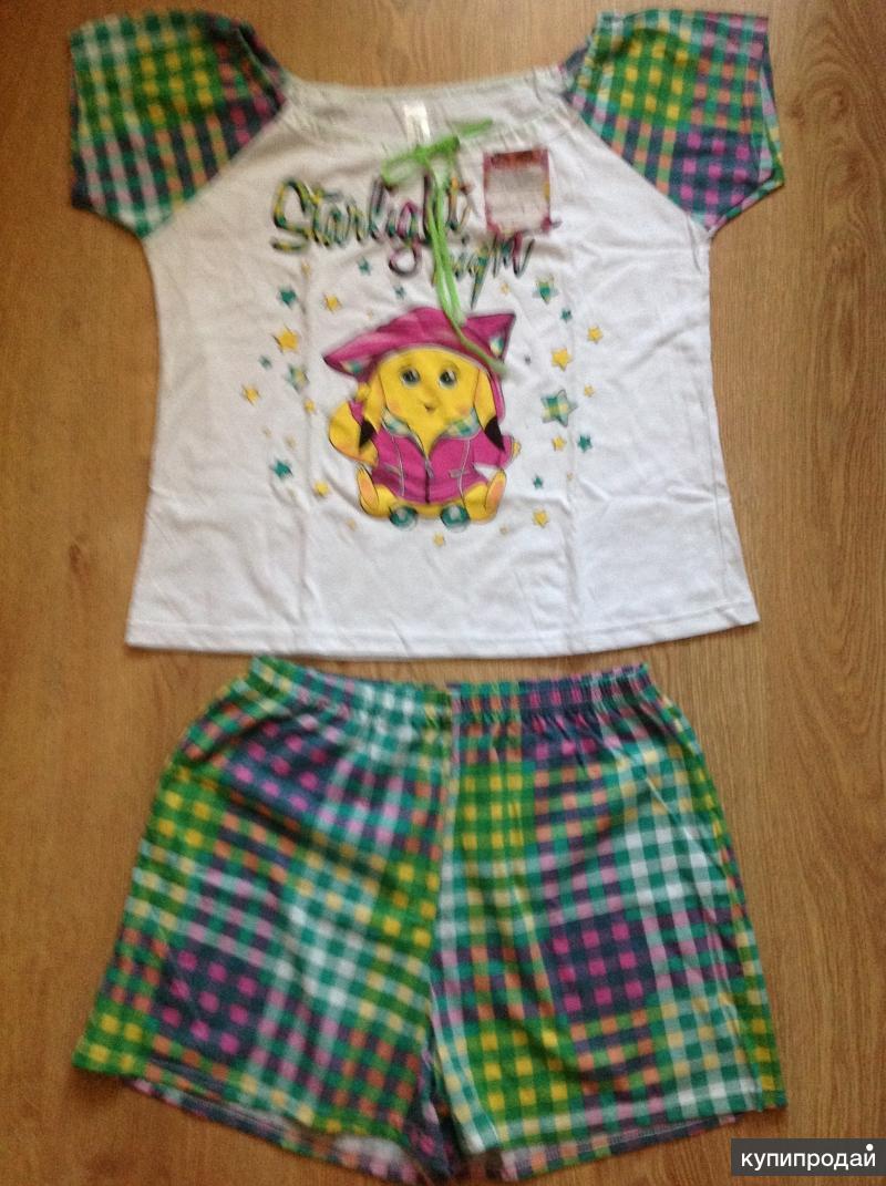 Пижама с шортами новая размер 52, Ивановский трикотаж