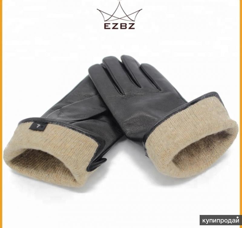 Кожаные перчатки с овчиным мехом