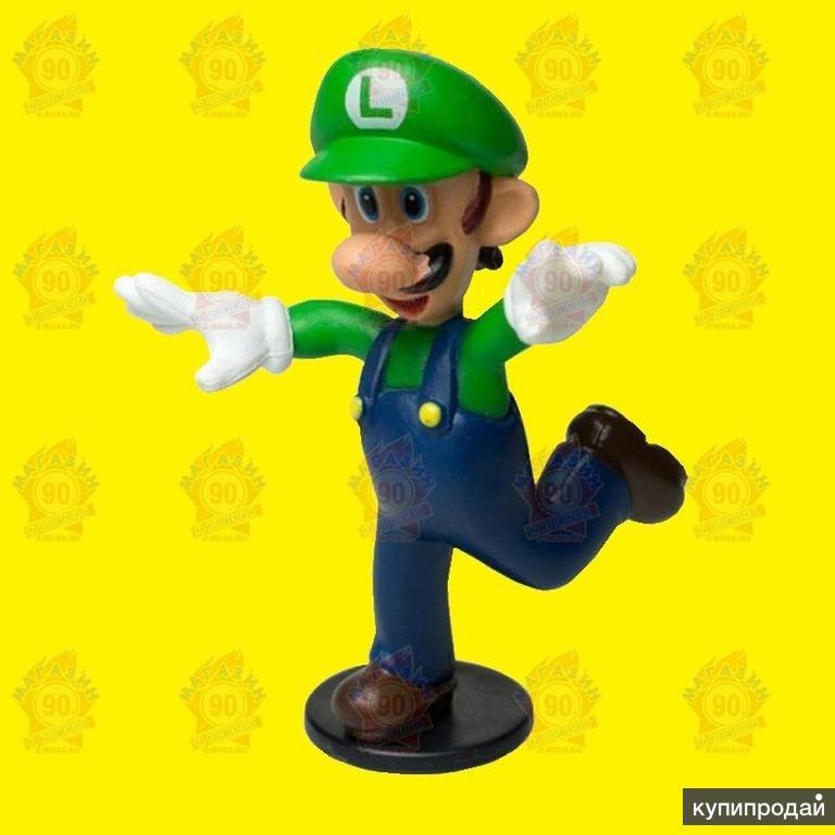 Фигурка Луиджи из коллекции Супер Марио (6 см)