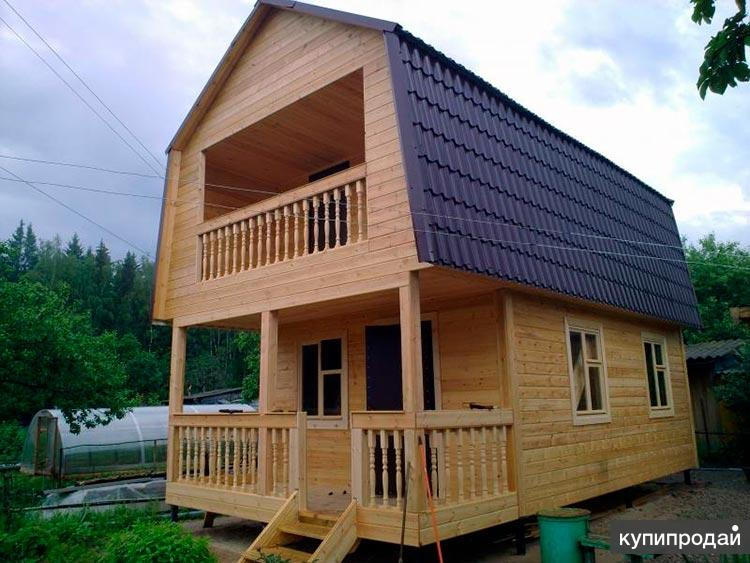 Строительство каркасного домика 5х6 на даче в Пензе недорого под ключ