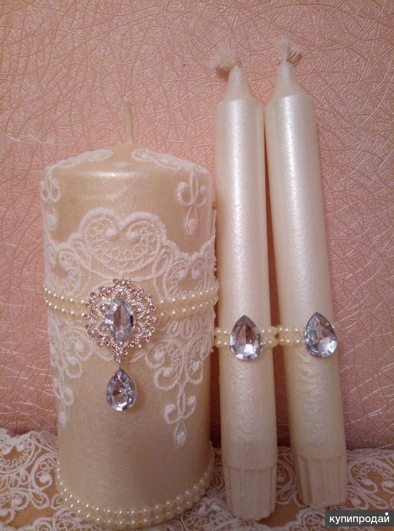 Свадебный набор(бокалы+свечи)