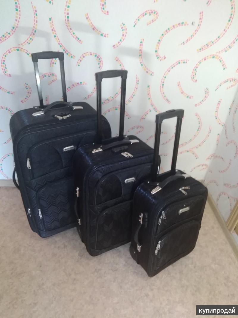 Новые чемоданы черные