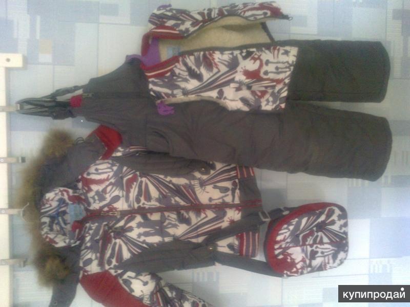 Распродажа:Зимняя куртка с тёпл. штанишками,жакет на меху и сумка для перчаток.