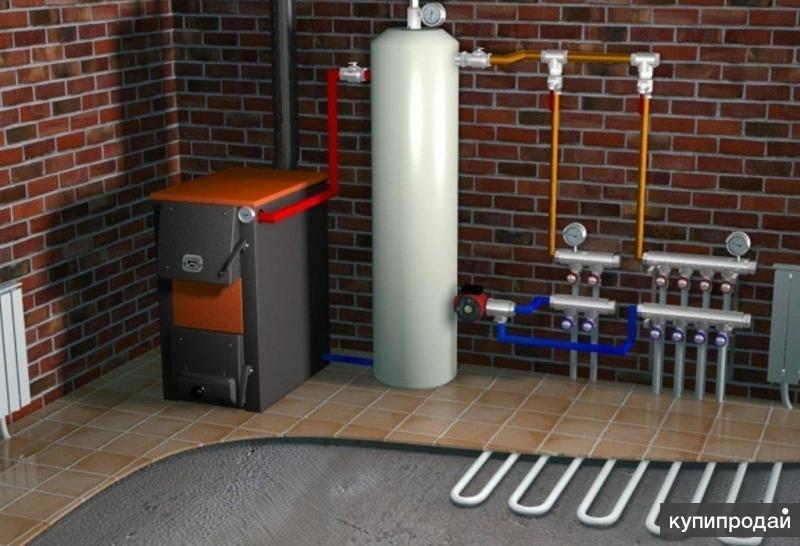 Монтаж системы отопления, штукатурные работы.