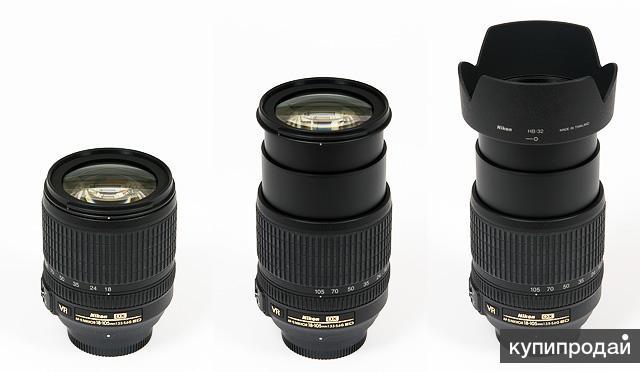 Объектив Nikon AF-S DX VR Zoom-Nikkor 18-105mm F3.5-5.6G ED