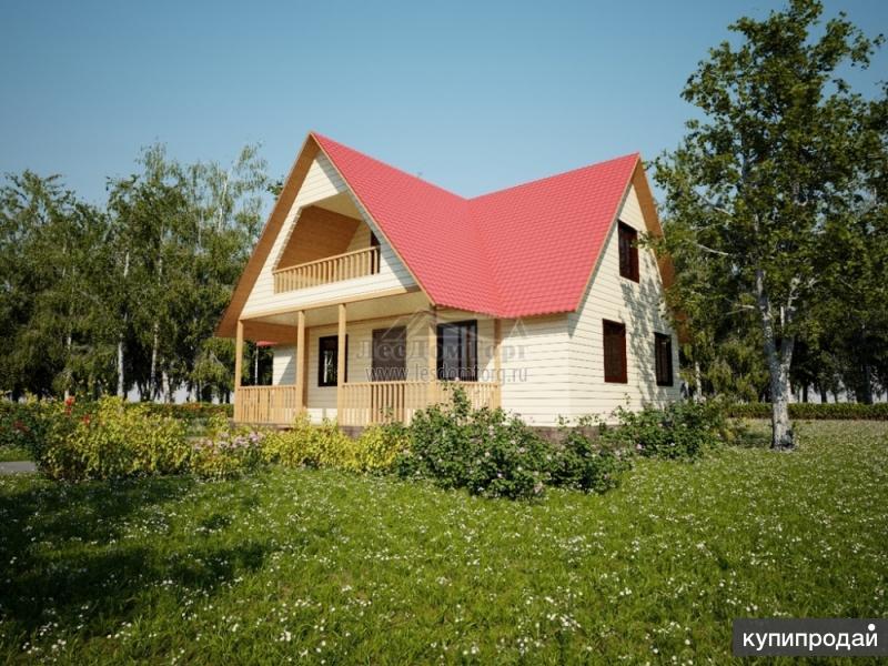 Каркасно-щитовой дом 9.0×8.0 м с общей площадью 105.08 м2
