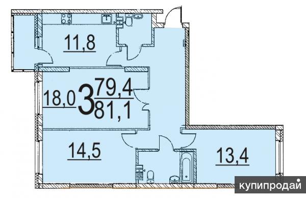 Продаю 3-х комнатную квартиру в г. Екатеринбурге