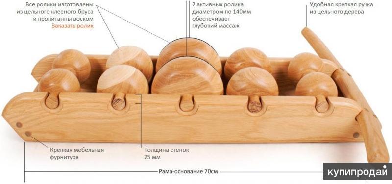 Тремасс - деревянный роликовый массажер-тренажер от всех болезней.