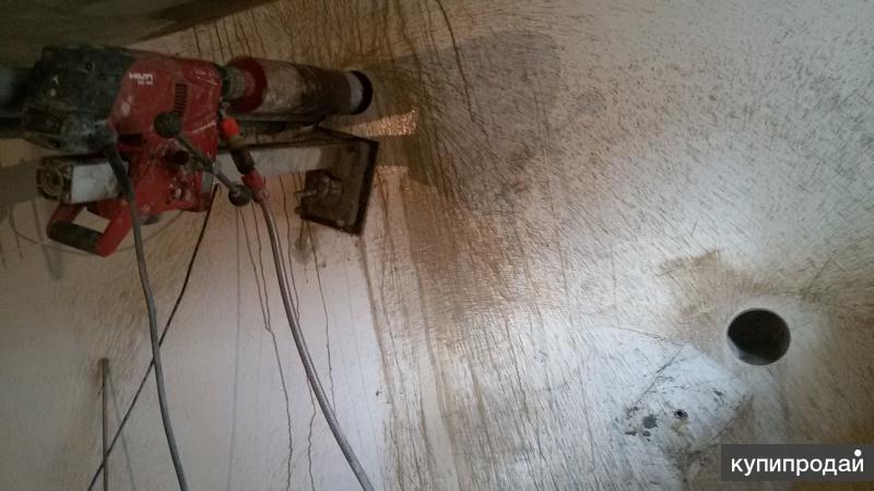 Сверление стен перекрытий цоколя. Алмазное сверление  бурение бетона.