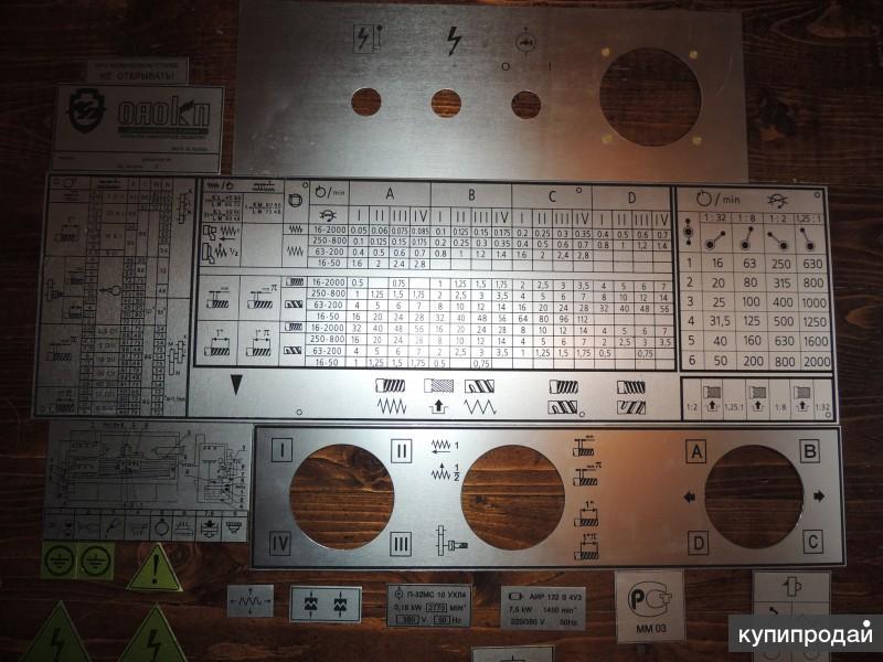 Таблички к станкам(шильдики) 16к20, 16в20, 16к25, 1м63 изготовление.