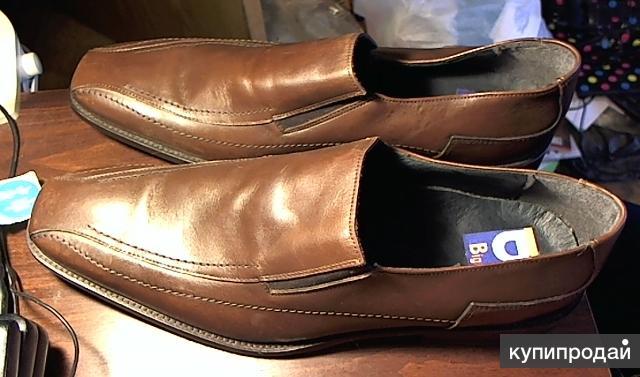 Туфли Binger's, размер 49. Коричневые кожаные новые.
