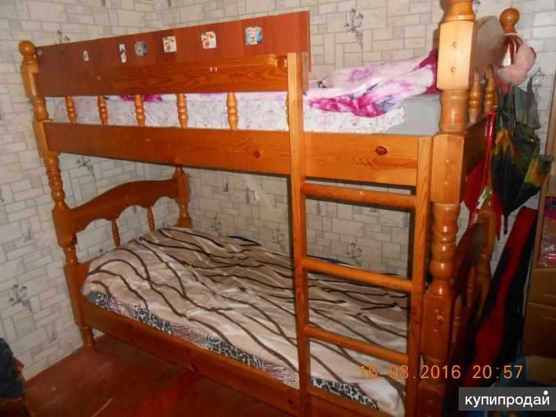двух ярусная кровать,без матрасов