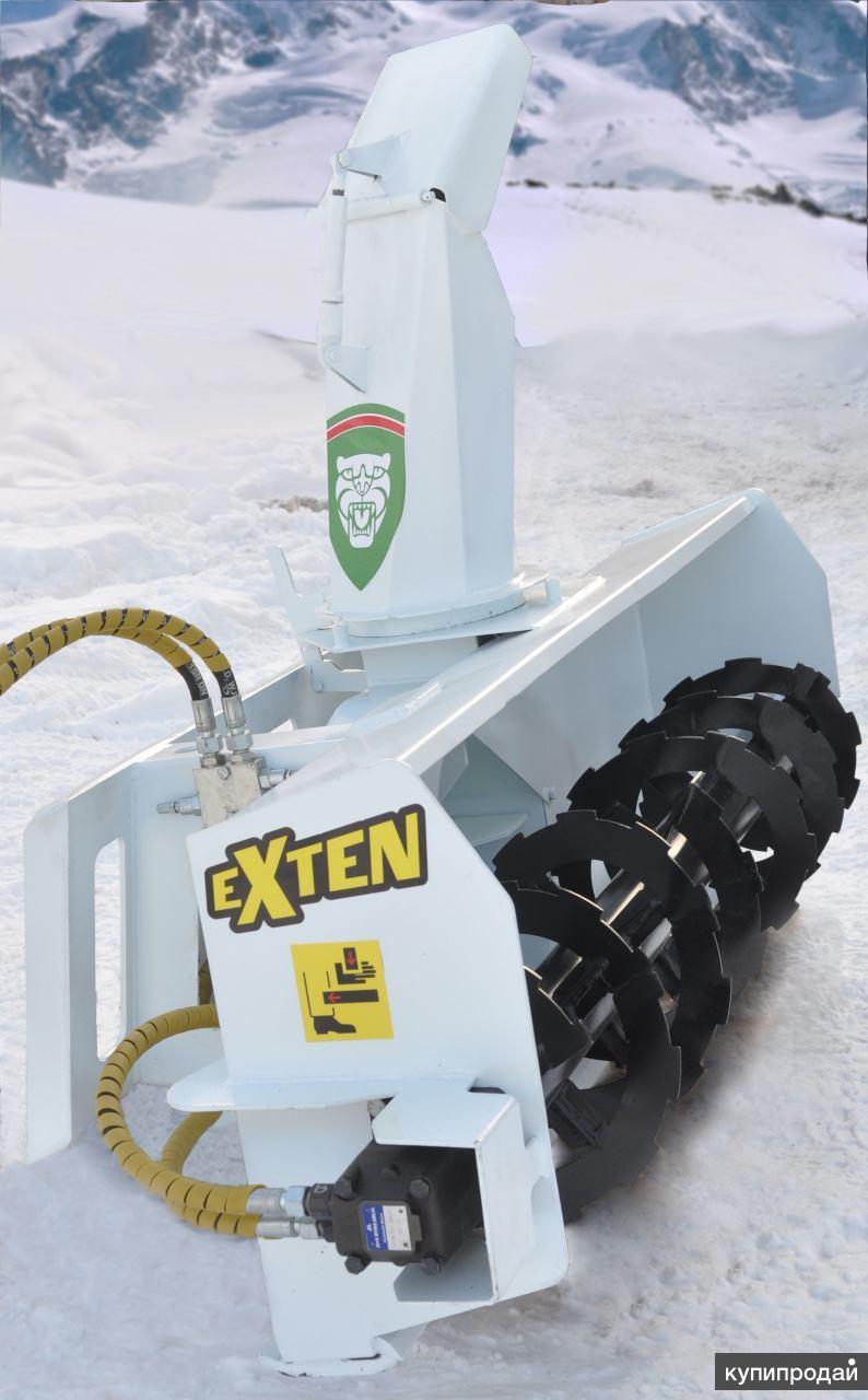 Снегоротор, снегоочиститель роторный на минипогрузчик