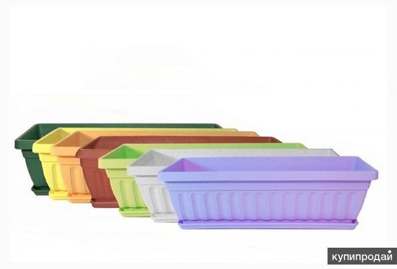 Продам Балконный ящик с/п 500*130*160мм терракот в им Чудо-сад
