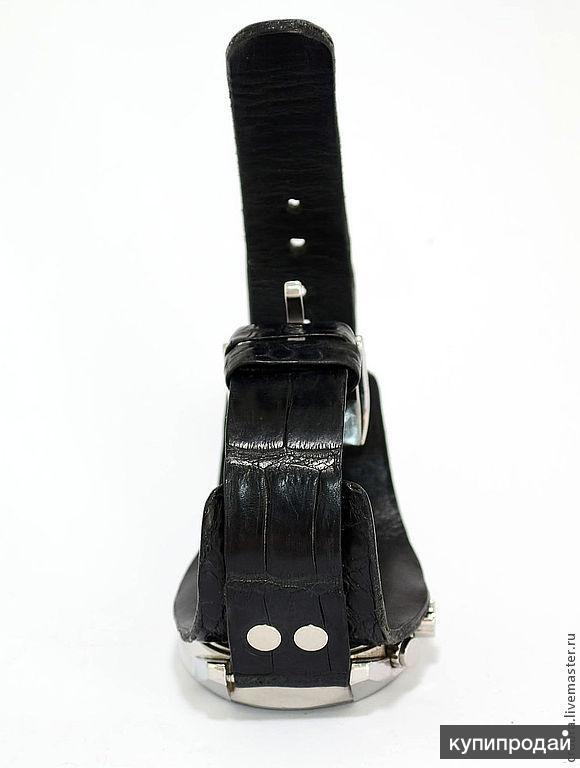Ремешок на часы из натуральной крокодиловой кожи с подложкой