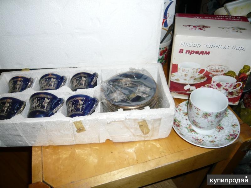 Сервиз ручной из греции Gold и чайный набор