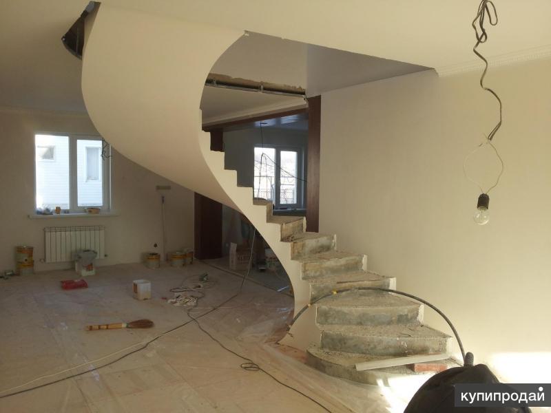 Изготовление бетонных и кованных лестниц в Белгороде