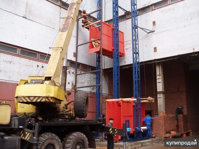 Монтаж грузовых подъемников (мачтовый, шахтный, строительный)