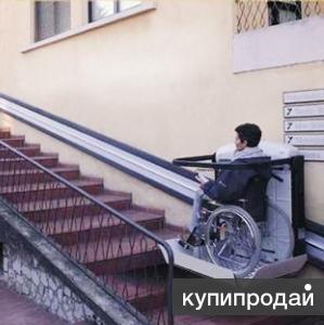 Монтаж инвалидного подъемника (вертикальный, лестничный)