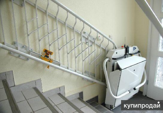Инвалидный подъемник лестничный вертикальный - изготовление