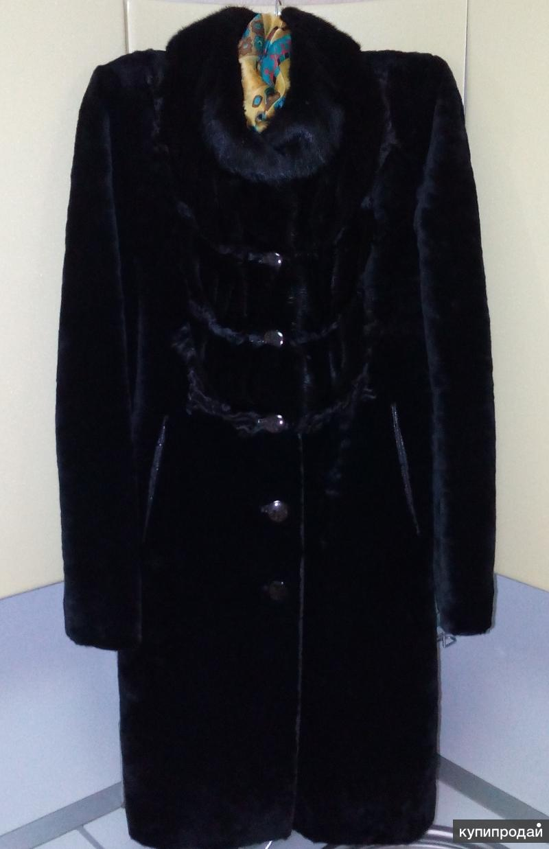пальто мутоновое