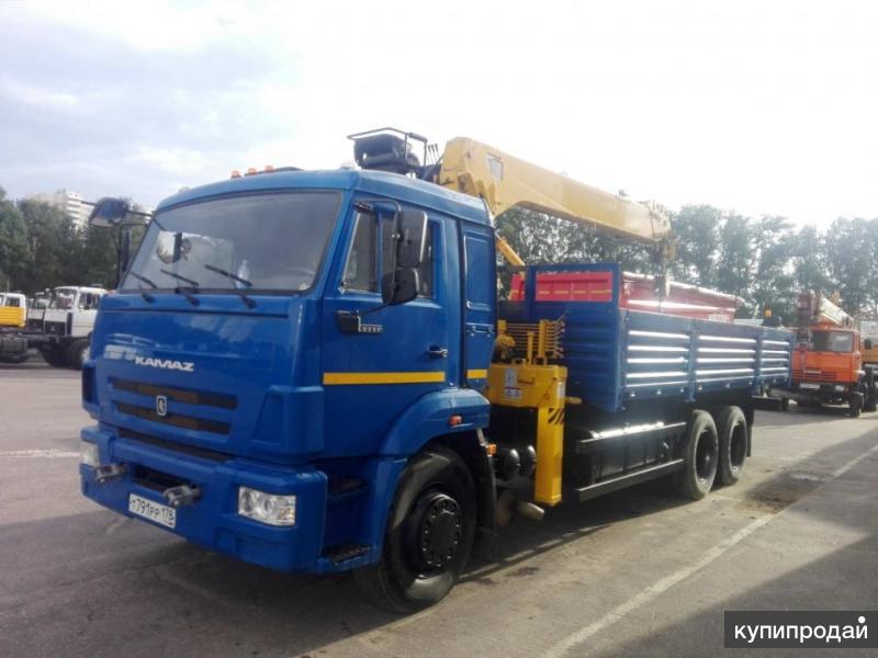 Продается КАМАЗ-65117 бортовой с КМУ 732417, б/у (2015 г.в.)