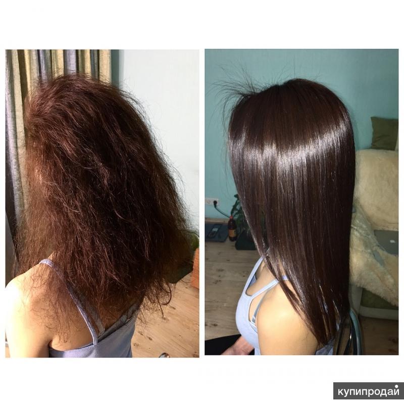 После кератинового выпрямления волосы стали
