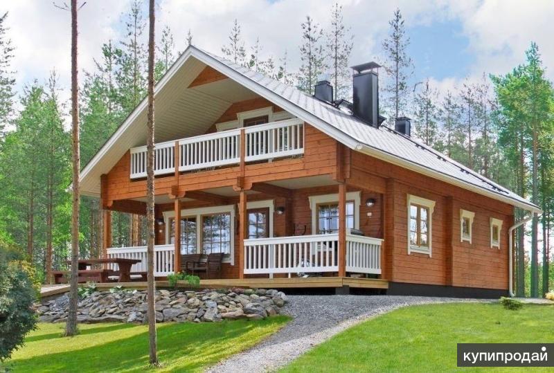 ?? дом из бруса с балконом и террасой ??.