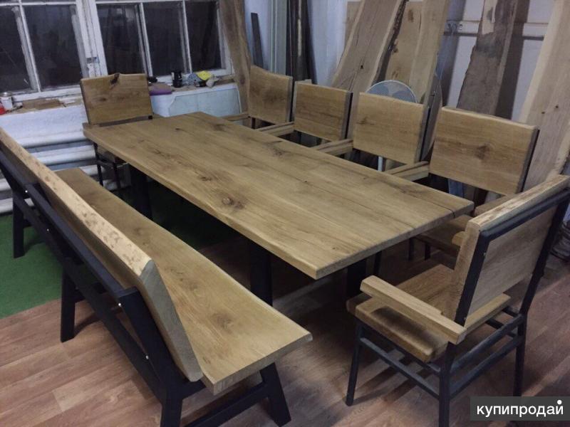 Изготовление мебели из слэбов дерева (массива) москва.