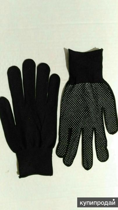 Перчатки нейлоновые с ПВХ (микроточка)