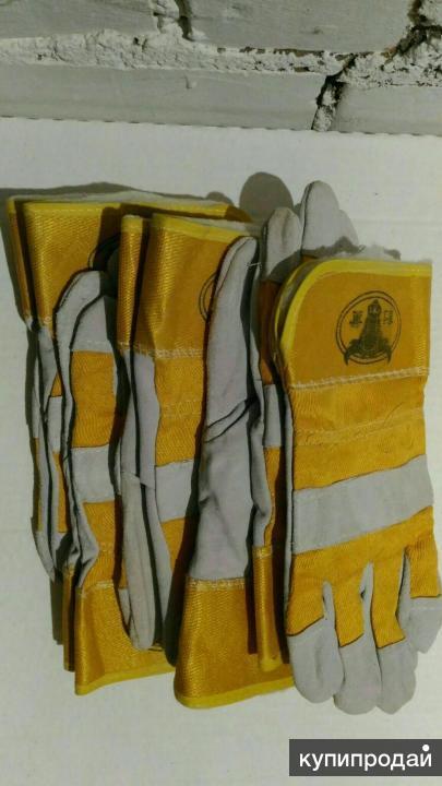 Перчатки спилковые утепленные Ангара