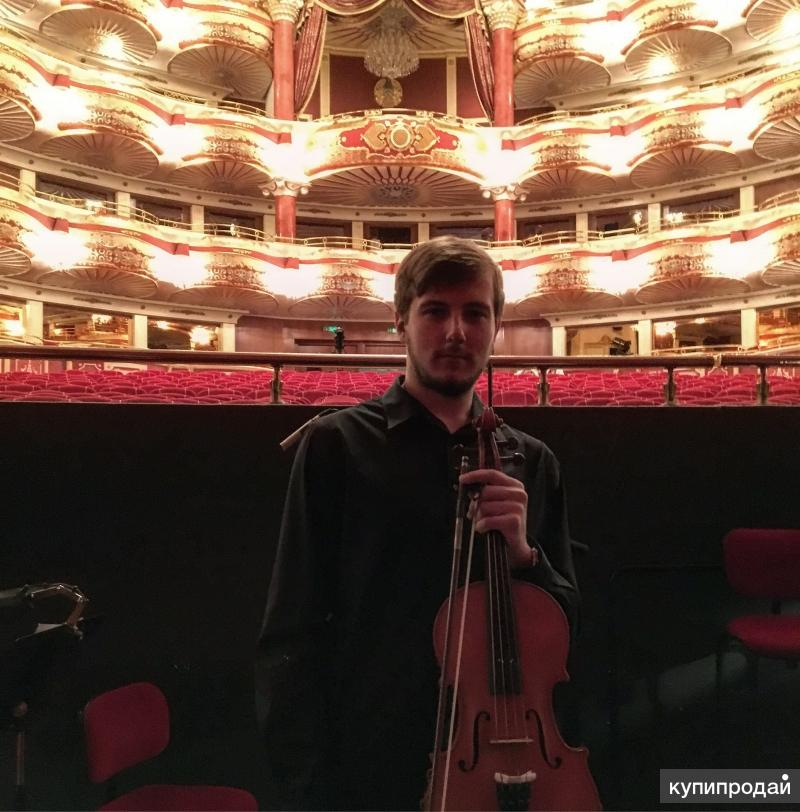 Музыканты на праздник, скрипка