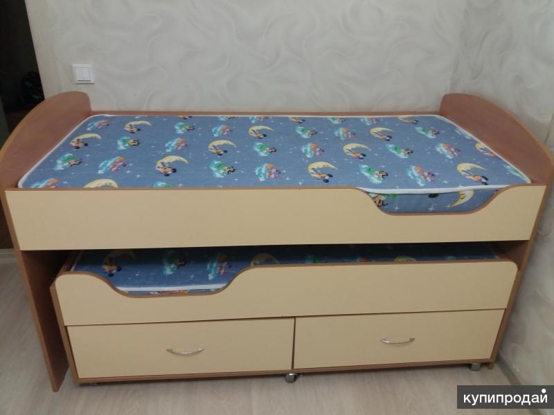 Кровать для двойняшек выдвижная