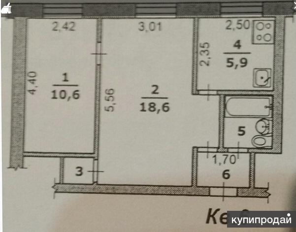 Продам 2-к квартиру, 41 м2, 2/3 эт.