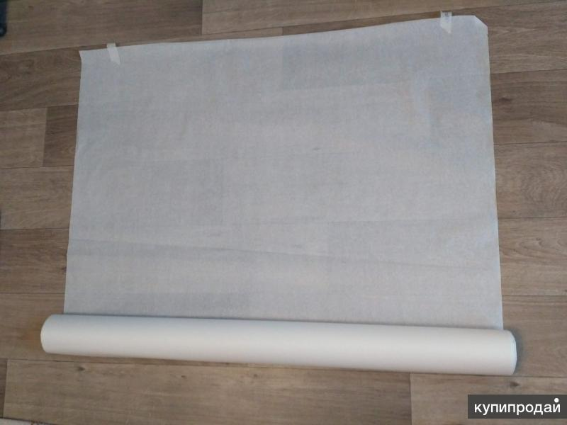Бумага пергаментная белая/крафт ширина 150 см, намотка 100 м