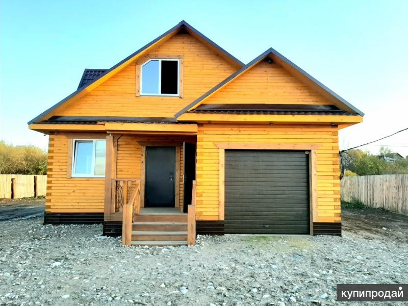 Качественный надежный брусовой дом с гаражом