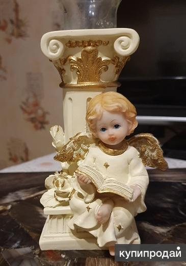 Подсвечник Ангелочек и греческая колонна