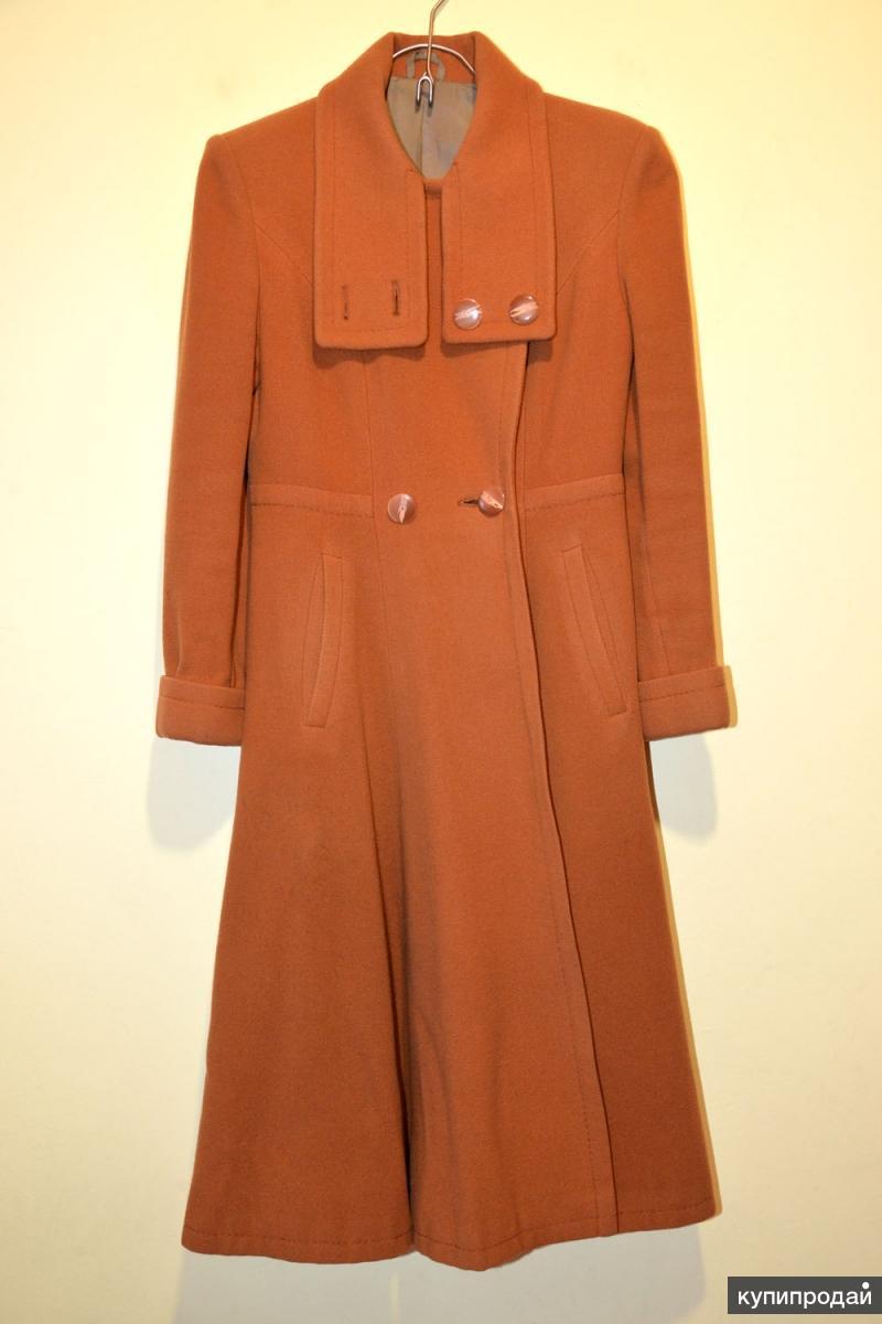 Пальто женское демисезонное из драпа, размер 44-46