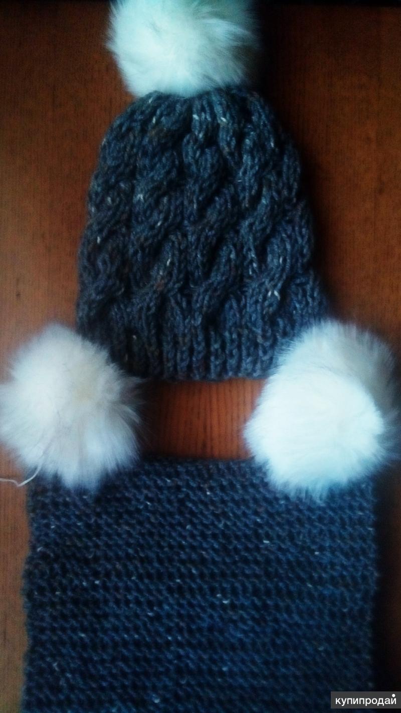 Дет комплект зима шапка и снуд
