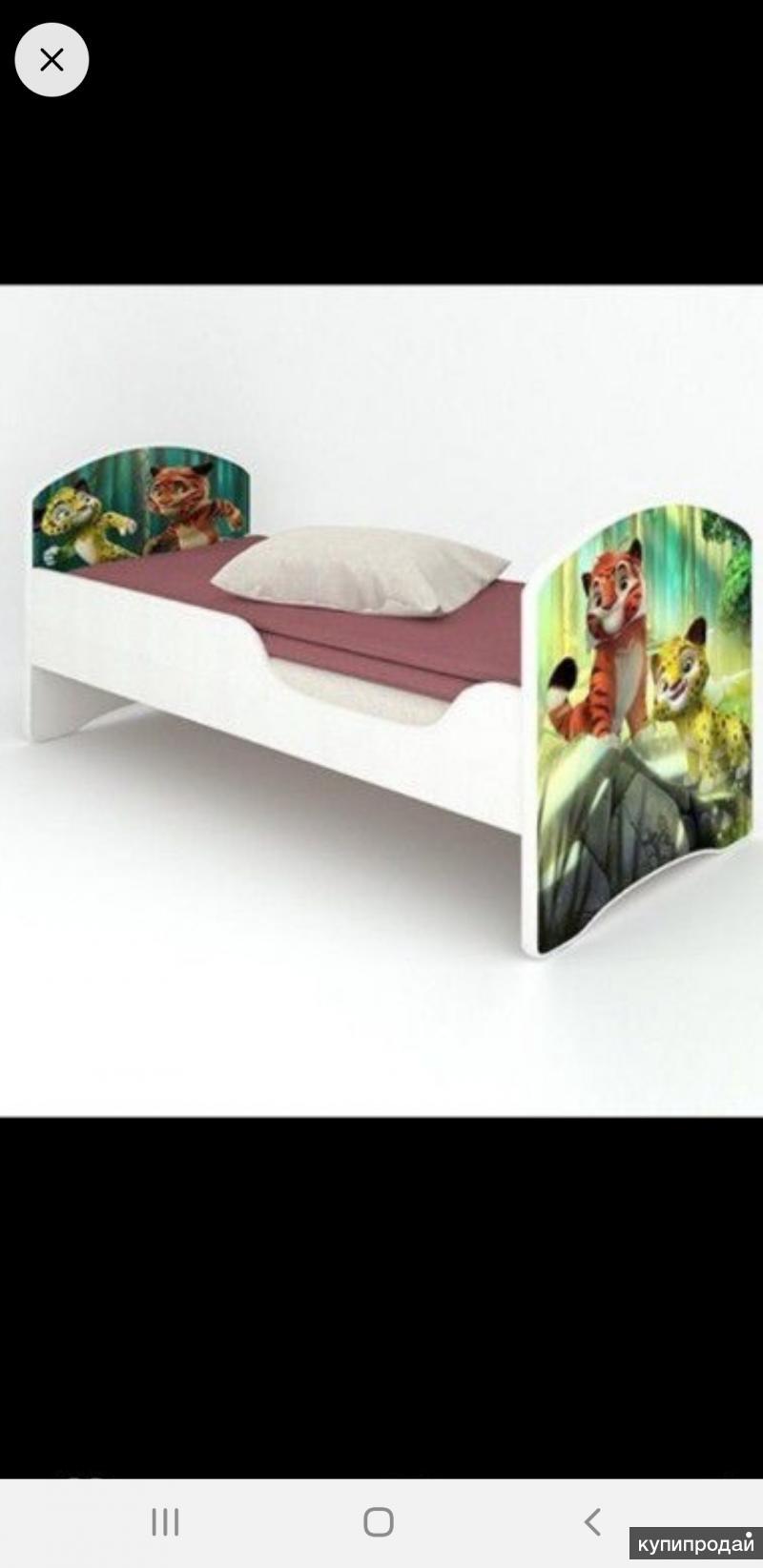 Кровать с фотопечатью.