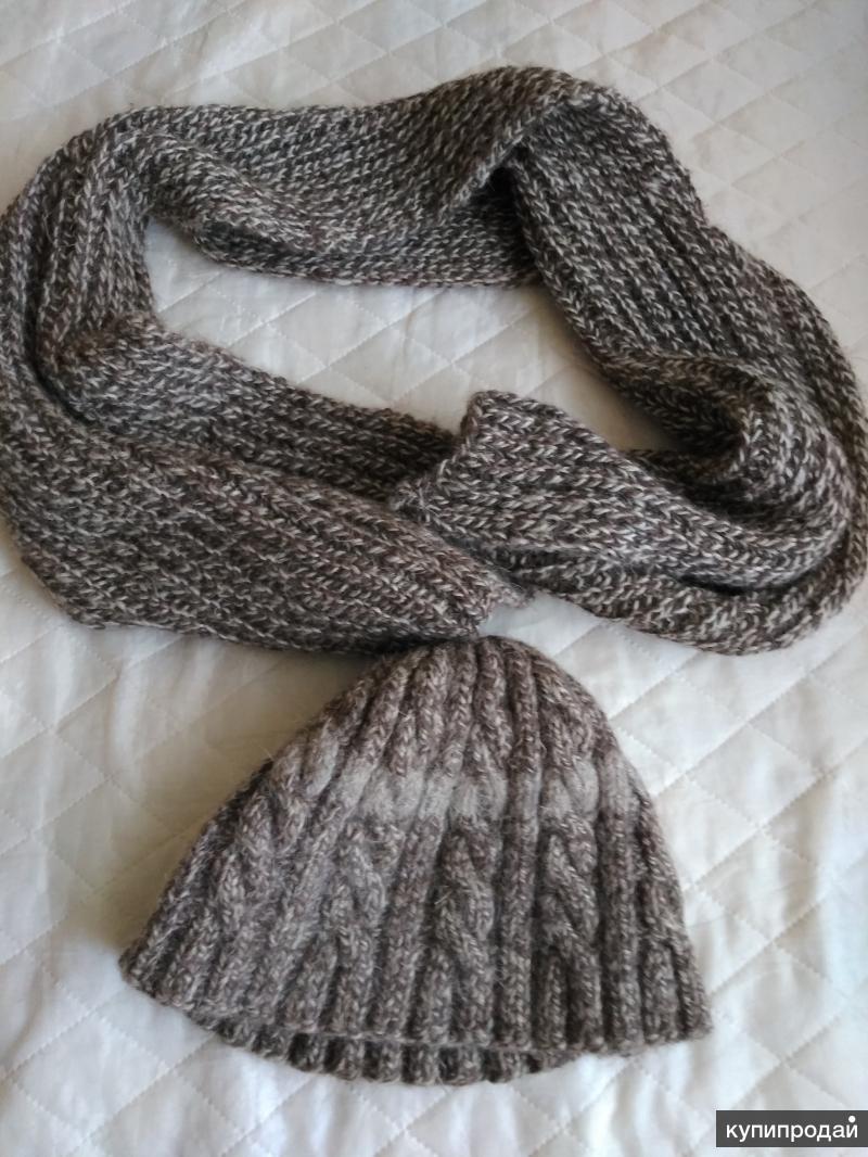 шапка и шарф для мужчины