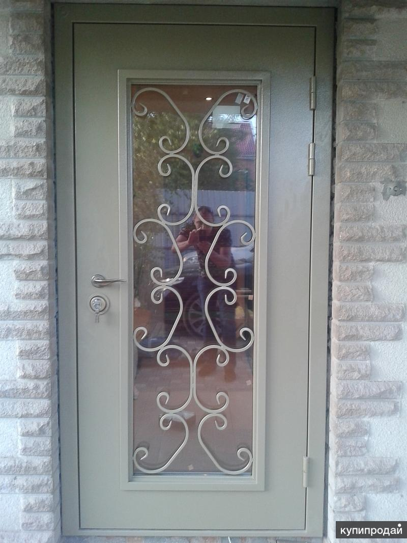 металлические входные двери со стеклом недорого
