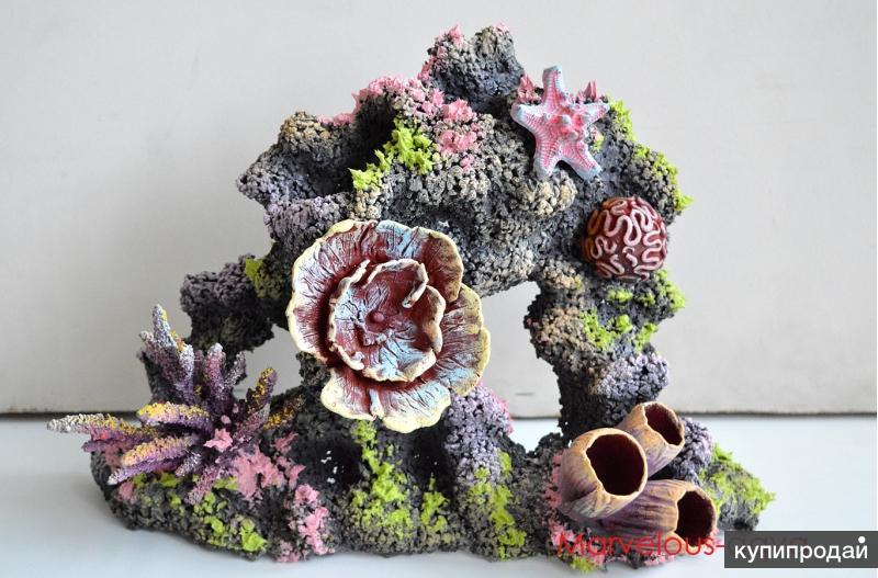 Аквариумные украшения, коралловые рифы от фабрики MArvelous Aqva