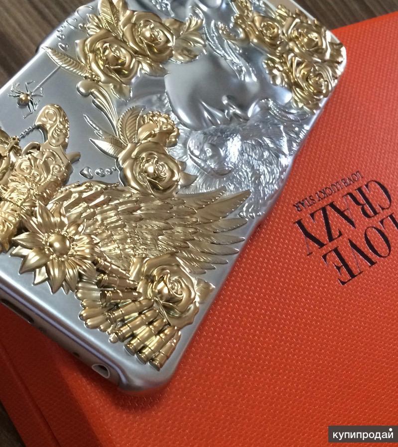VIP чехол Crazy Love под ювел. украшение Япония, для айфон 6,6+,7