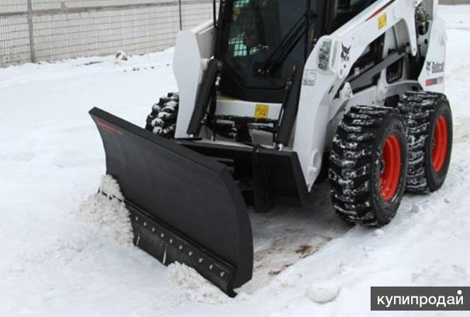 Снежный отвал на мини погрузчик