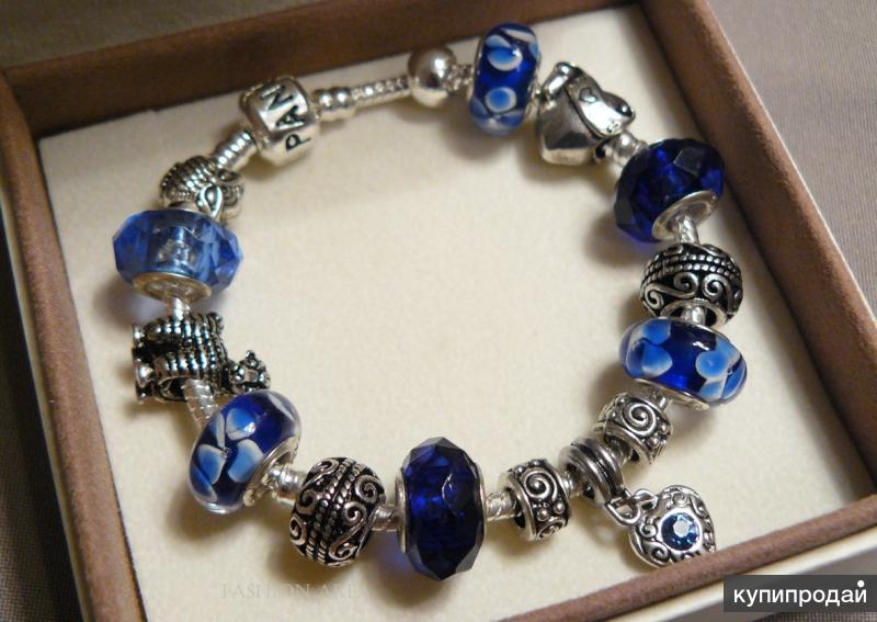 Браслет с шармами Blue Sea в сборе (R678) в стиле Пандора