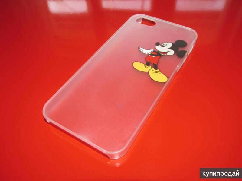 Полупрозрачный чехол case с рисунком Микки Мауса для apple iphone 5/5S